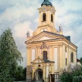 Wien/Rodaun, Kirche am Platz