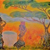 Afrika Frauen am Brunnen
