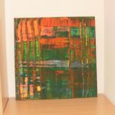Abstrakt grün orange