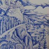 Landschaft gefüllt mit Füller