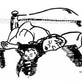 Schlafende Kinder frei nach H. Zille