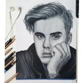 Justin Bieber Portrait Print