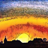 SonnenUntergang über Bunde/Ostfriesland