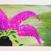 Flieder in Acryl gemalt und in Digiart bearbeitet