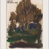 1989 Juli Bäume Öl ohne Grundierung gefirnist 50x80mm Pas 90x145mm (BB)