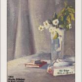1953 Studie Stilleben in Bad Lausick mit 3 Buntfarben und sw 86x121mm Pas 212x295mm (02)