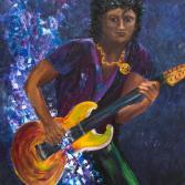 Musik gemalt, Gitarrist