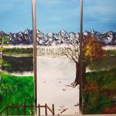 Drei Jahreszeiten eine Landschaft