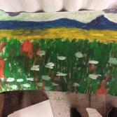 Pustelblumenlandschaft - Pustule flowers landscape
