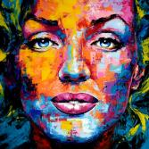 Original Gemälde Marilyn Monroe Leinwand Acryl modern Gesicht abstrakt Bild 901 Hand Portrait