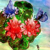 Rosenteich mit Schmetterling...