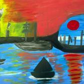 Hafen im Morgenrot