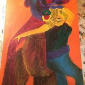 Frau kuschelt mit Teddybär - Woman snuggling with teddy bear