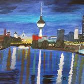 Berlin in Abenddämmerung