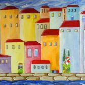 Träumende Stadt am Meer