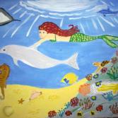 Meerjungfrau und Delfin