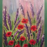Mohnblumen und Lavendel