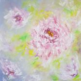 Peonies I abstract