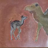 Kamele auf Aqrylpapier