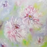 Peonies II abstract