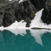 Spiegelung Bergsee in Tirol