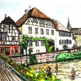 Häuserreihe Altstadt Ettlingen