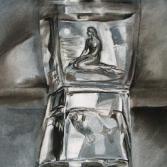 Meerjungfrau im Glas