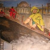 Riesin vor Reichstag