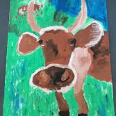Die Kuh gafft
