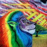 "Rainbow Warrior - from the Series ""Release Your Inner Lion"""