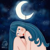Das Mädchen und der Mond