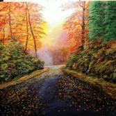 Strasse im Herbst