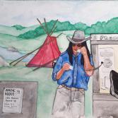 Am Rande des Apachen-Rodeos