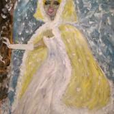Braut mit Umhang