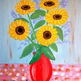 Sonnenblumen mit Vase