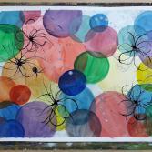 Farbblasenspiel