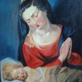 Jungfrau d.Jesuskind anbetend Kopie n.Rubens