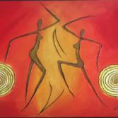 Dancers between the light