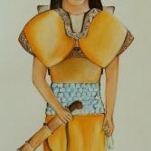 Studie zum Kleid einer Romanfigur