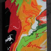 Abstraktes Acrylbild ( Gonzo V. )