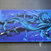 Abstraktes Acrylbild 50x100 (Gonzo V.)