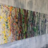 Abstraktes Acrylbild 50x150 (Gonzo V.)