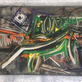 Abstraktes Acrylbild 55x80 (Gonzo V.)