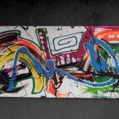 Abstraktes Acrylbild 55x140 (Gonzo V.)