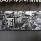 Abstraktes Acrylbild 55x145 (Gonzo V.)