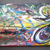 Abstraktes Acrylbild 70x100 (Gonzo V.)