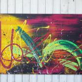 Abstraktes Acrylbild 70x120 (Gonzo V.)