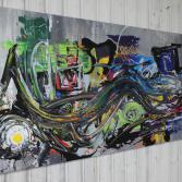 Abstraktes Acrylbild 70x130 (Gonzo V.)