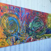 Abstraktes Acrylbild 70x150 (Gonzo V.) handgemalt Malerei