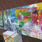 Abstraktes Acrylbild 70x170 (Gonzo V.) handgemalt Malerei
